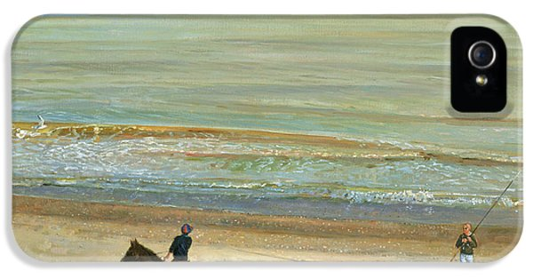 Calm iPhone 5 Cases -  Beach Dialogue Dunwich iPhone 5 Case by Timothy  Easton