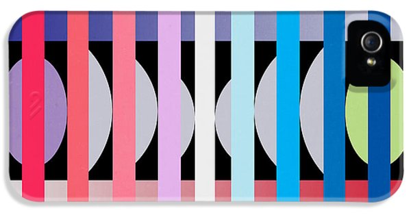 Contemporary Art iPhone 5 Cases -  Fun Geometric  iPhone 5 Case by Mark Ashkenazi
