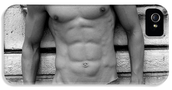 Erotic Male iPhone 5 Cases -  Male Abs iPhone 5 Case by Mark Ashkenazi
