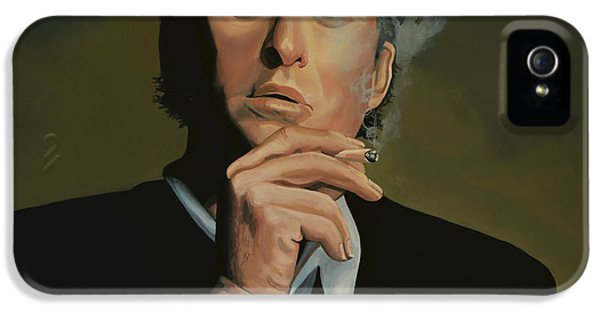 Moviestar iPhone 5 Cases -  Michael Douglas iPhone 5 Case by Paul  Meijering