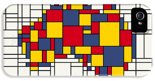 Abstract Canvas iPhone 5 Cases -  Mondrian inspired Australia Map iPhone 5 Case by Michael Tompsett