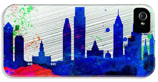 Philadelphia City Skyline IPhone 5 / 5s Case by Naxart Studio