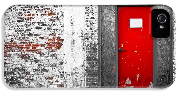 Perception iPhone 5 Cases -  Red Door Perception iPhone 5 Case by Bob Orsillo