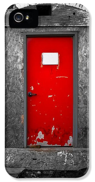 Huxley iPhone 5 Cases -  Red Door Perception iPhone 5 Case by Bob Orsillo
