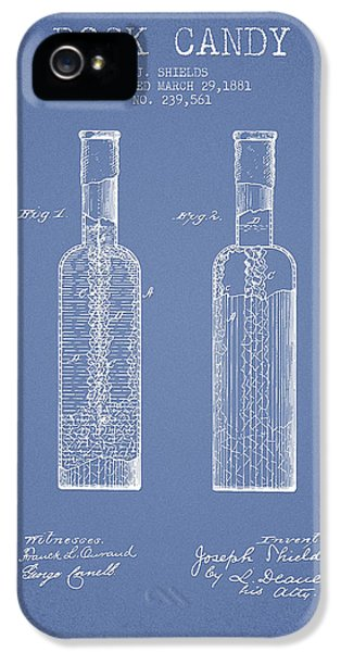 Candy iPhone 5 Cases -  Rock Candy  Patent Drawing from 1881 - Light Blue iPhone 5 Case by Aged Pixel