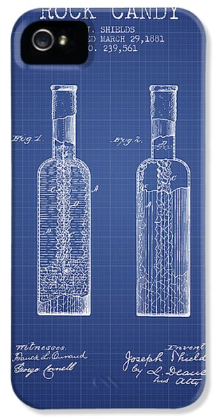 Candy iPhone 5 Cases -  Rock Candy  Patent from 1881  - Blueprint iPhone 5 Case by Aged Pixel