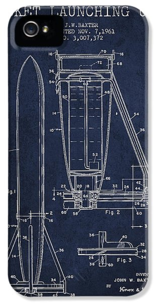 Rockets iPhone 5 Cases -  Rocket Launching Unit Patent from 1961 iPhone 5 Case by Aged Pixel
