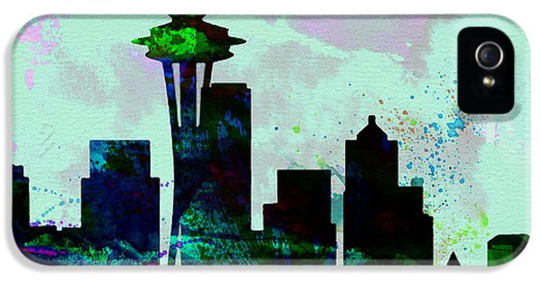 Seattle City Skyline IPhone 5 / 5s Case by Naxart Studio