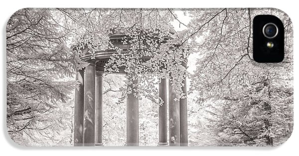 Infrared iPhone 5 Cases -  Temple of Fame Fountains Abbey iPhone 5 Case by Janet Burdon