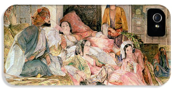 Sofa iPhone 5 Cases -  The Harem iPhone 5 Case by John Frederick Lewis