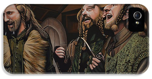 Moviestar iPhone 5 Cases -  The Hobbit and the Dwarves iPhone 5 Case by Paul  Meijering