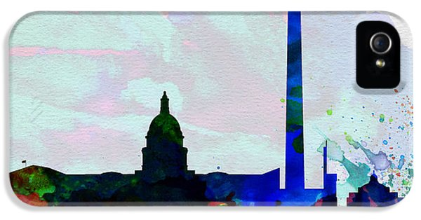 Washington D.c. iPhone 5 Cases -  Washington DC City Skyline 2 iPhone 5 Case by Naxart Studio
