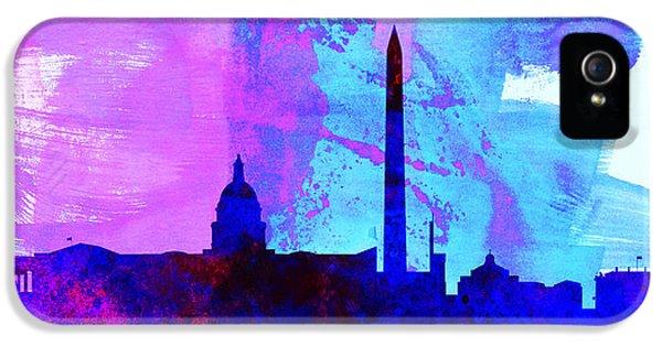 Washington D.c. iPhone 5 Cases -  Washington DC City Skyline iPhone 5 Case by Naxart Studio