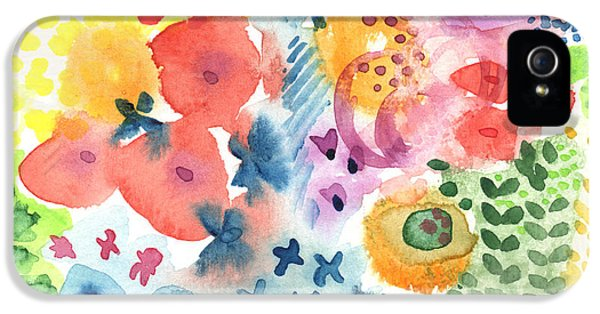 Commercial iPhone 5 Cases -  Watercolor Garden iPhone 5 Case by Linda Woods