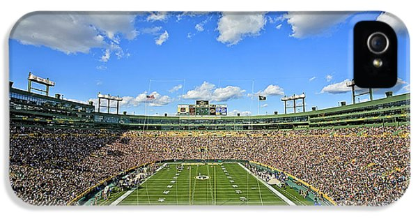 Green iPhone 5 Cases - 0538 Lambeau Field  iPhone 5 Case by Steve Sturgill