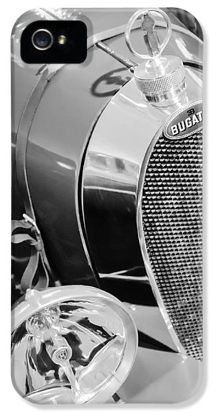 Bugatti Classic Car iPhone 5 Cases - 1925 Bugatti Type 35 Grand Prix Grille Emblem - Hood Ornament iPhone 5 Case by Jill Reger