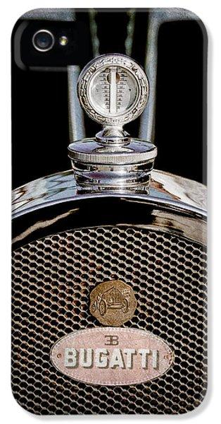 Bugatti Classic Car iPhone 5 Cases - 1927 Bugatti Replica Hood Ornament - Emblem iPhone 5 Case by Jill Reger