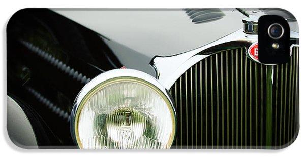 Bugatti Classic Car iPhone 5 Cases - 1936 Bugatti Type 57S Corsica Tourer Grille Emblem iPhone 5 Case by Jill Reger