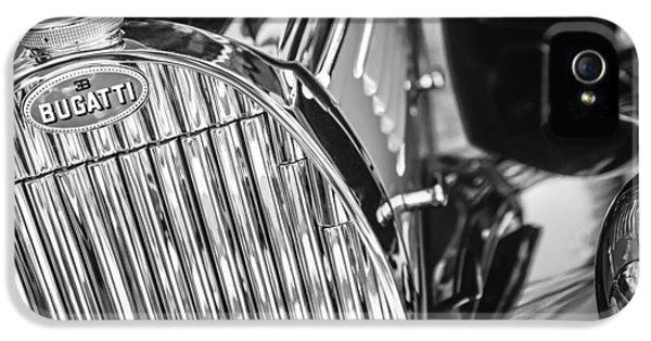 Bugatti Classic Car iPhone 5 Cases - 1939 Bugatti T57C Galibier Grille Emblem iPhone 5 Case by Jill Reger