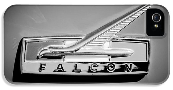 Ford Classic Car iPhone 5 Cases - 1964 Ford Falcon Emblem iPhone 5 Case by Jill Reger