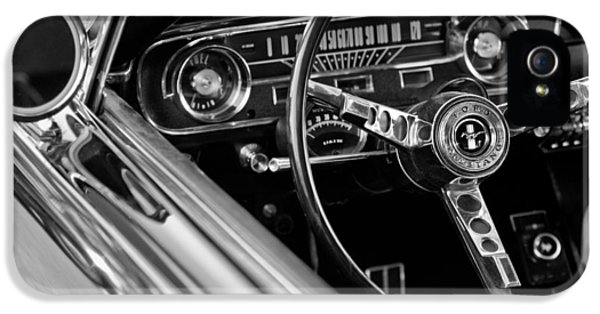 B iPhone 5 Cases - 1965 Shelby prototype Ford Mustang Steering Wheel iPhone 5 Case by Jill Reger