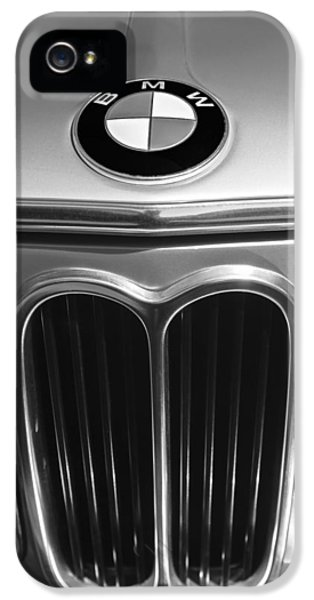 1972 iPhone 5 Cases - 1972 BMW 2000 TII Touring Grille Emblem iPhone 5 Case by Jill Reger