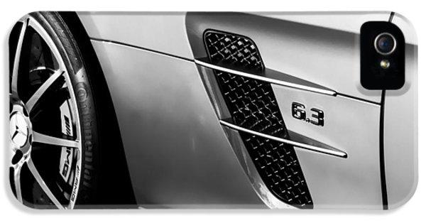2012 Mercedes-benz Sls Gullwing Wheel IPhone 5 / 5s Case by Jill Reger