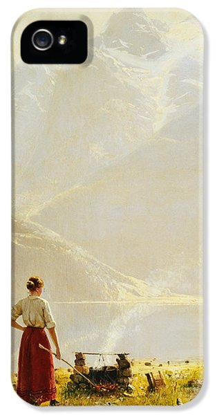 Scandinavian iPhone 5 Cases - A Summer Day on a Norwegian Fjord iPhone 5 Case by Hans Dahl