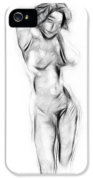 Girls iPhone 5 Cases - Abstract Nude iPhone 5 Case by Stefan Kuhn