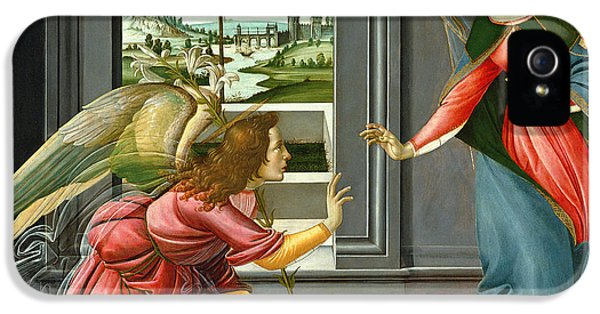 Archangel iPhone 5 Cases - Annunciation iPhone 5 Case by Sandro Botticelli