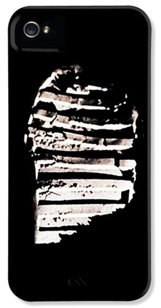 Apollo Print iPhone 5 Cases - Apollo 11 Footprint iPhone 5 Case by Weston Westmoreland