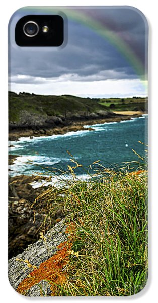 Harbour iPhone 5 Cases - Atlantic coast in Brittany iPhone 5 Case by Elena Elisseeva