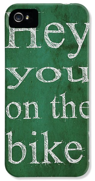 Michael J Fox iPhone 5 Cases - Back to the future.Hey Dad George Hey you on the bike iPhone 5 Case by Pablo Franchi