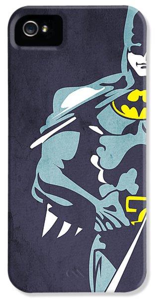 Character iPhone 5 Cases - Batman  iPhone 5 Case by Mark Ashkenazi