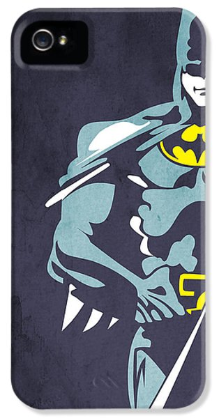 Character iPhone 5 Cases - Batman  iPhone 5 Case by Mark Ashkenazi