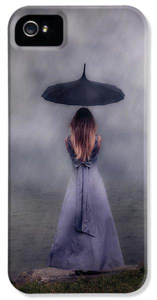 Raining iPhone 5 Cases - Black Umbrella iPhone 5 Case by Joana Kruse