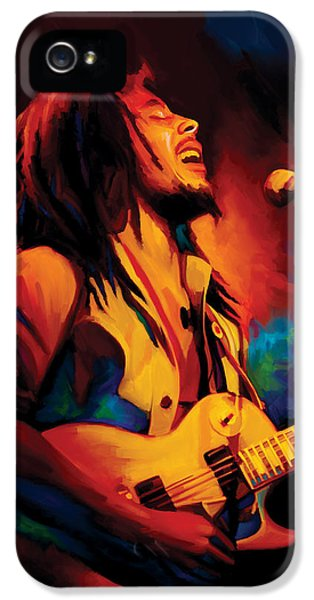 Bob Marley iPhone 5 Cases - Bob Marley Artwork iPhone 5 Case by Sheraz A
