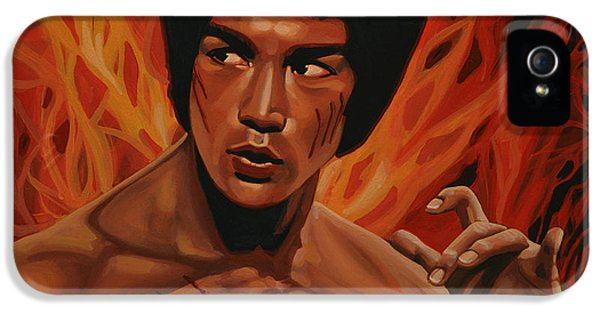Connection iPhone 5 Cases - Bruce Lee iPhone 5 Case by Paul  Meijering