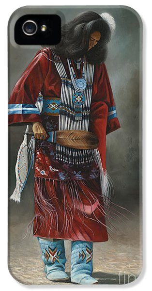 Native American Indian iPhone 5 Cases - Ceremonial Red iPhone 5 Case by Ricardo Chavez-Mendez