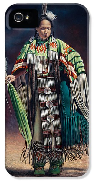 Native American Indian iPhone 5 Cases - Ceremonial Rhythm iPhone 5 Case by Ricardo Chavez-Mendez