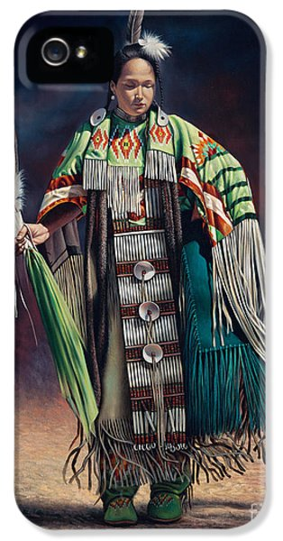 Native American iPhone 5 Cases - Ceremonial Rhythm iPhone 5 Case by Ricardo Chavez-Mendez