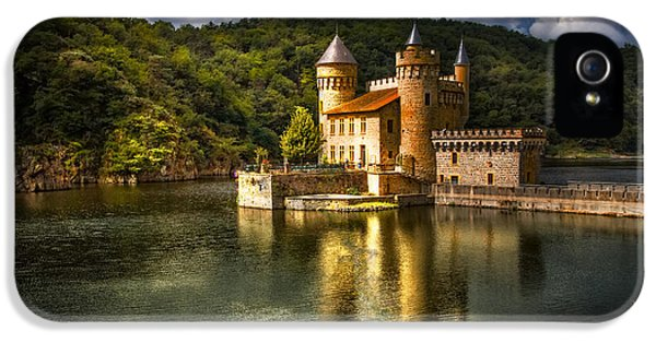 Castle iPhone 5 Cases - Chateau de la Roche iPhone 5 Case by Debra and Dave Vanderlaan
