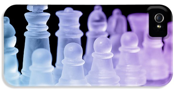 Chess Board iPhone 5 Cases - Chess Pieces iPhone 5 Case by Amanda And Christopher Elwell