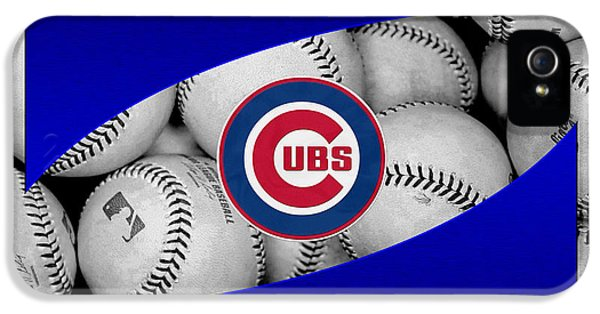 Cubs iPhone 5 Cases - Chicago Cubs iPhone 5 Case by Joe Hamilton