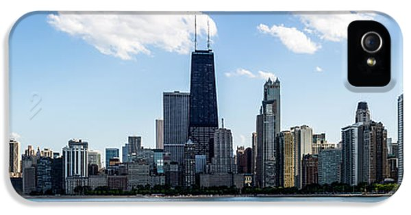 John Hancock Building iPhone 5 Cases - Chicago Panorama Skyline iPhone 5 Case by Paul Velgos