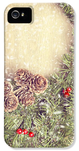 December iPhone 5 Cases - Christmas Garland iPhone 5 Case by Amanda And Christopher Elwell
