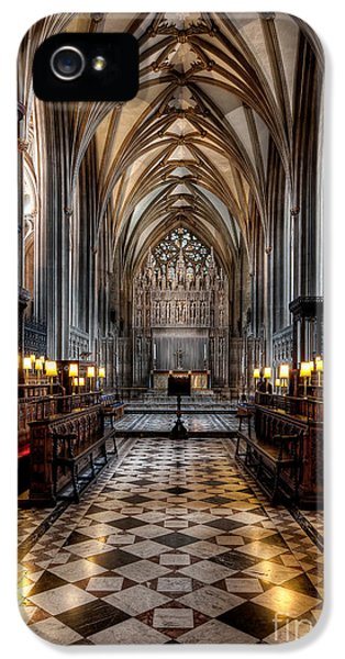 Organ iPhone 5 Cases - Church Interior iPhone 5 Case by Adrian Evans