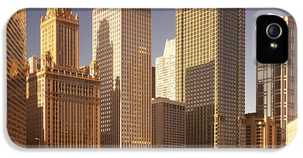 Il iPhone 5 Cases - Cityscape Chicago Il Usa iPhone 5 Case by Panoramic Images