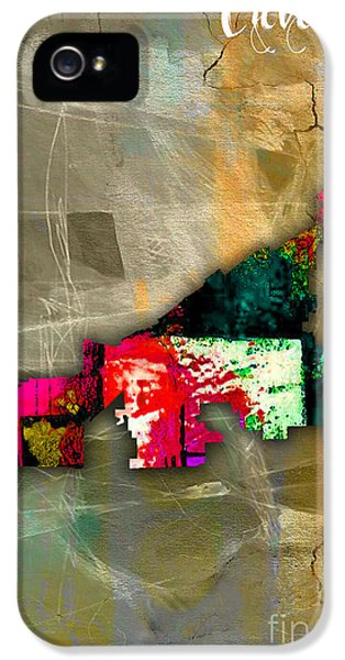 Cleveland Map Watercolor IPhone 5 / 5s Case by Marvin Blaine