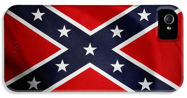 Nobody iPhone 5 Cases - Confederate flag iPhone 5 Case by Les Cunliffe